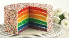 Regenbogentorte – Rainbow cake 1