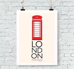 London Inspired: Phone Booth Print Wall Art