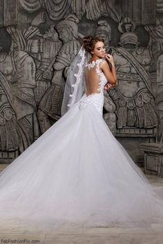 Backless Wedding Gowns Lebanese Fashion Designer Hassan Mazeh, Also Called  U201cPrince Of Madnessu201d Unveiled His 2013 Bridal Collection.
