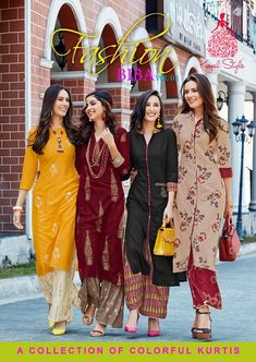 fashion biba vol 3 by kajal style kurti with palazzo wholesaler in surat cloth market - Krishna Creation Biba Fashion, Indian Fashion, Muslim Fashion, Style Fashion, Fashion Tips, Fashion Design, Organizer Box, Indian Outfits, Indian Attire