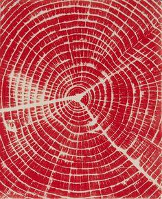 Brian Nash Gill - Woodcut,Heartwood, 2004