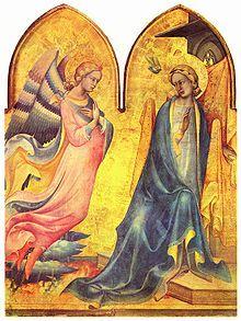 Trittico dell'Annunciazione - tempera e oro su tavola (1410-1415) - Piero di Giovanni detto Lorenzo Monaco - Galleria dell'Accademia, Firenze