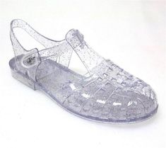 "Another pinner: ""Jelly shoes. When you need a way to show the world that you don't learn from previous mistakes. Baby Jelly Shoes, Jelly Sandals, Plastic Sandals, Cute Shoes, Me Too Shoes, Glitter Jelly, 90s Nostalgia, Old Toys, Best Memories"