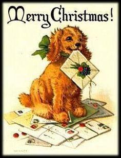Vintage Christmas doggie
