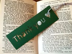 Handmade bookmark mini gift Thank you Gift for by CarolineArgo