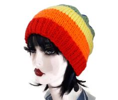 Pride Hat Rainbow Hand Knitted Beanie Winter Gift Unisex by thekittensmittensuk on Etsy hat rainbow Pride Hat Rainbow LGBT Items Hand Knitted Beanie Winter Gift Unisex Knit Hat For Men, Hats For Men, Knitted Hats, Crochet Hats, Animal Hats, Knit Beanie, Hand Knitting, Lgbt, Winter Hats