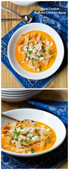 Slow Cooker Buffalo Chicken Soup from A Spicy Perspective