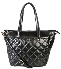 Diophy Womens Quilted Top Handle Zipper Closure Shoulder Bag Handbag KY2466 Black * Be sure to check out this awesome product.