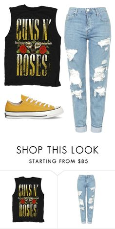 """""""Untitled #378"""" by laurenheartsnarry ❤ liked on Polyvore featuring Topshop and Converse"""