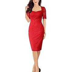 Women's Square Lace Slim Pencil Bodycon Dress – CAD $ 27.50