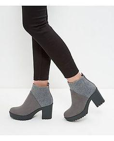 Shop Grey Elastic Back Block Heel Boots . Discover the latest trends at New Look. Block Heel Boots, High Heel Boots, Heeled Boots, Bootie Boots, Ankle Boots, Block Heels, Pretty Shoes, Beautiful Shoes, Sock Shoes