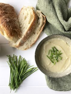 Easy Peasy Potato and Leek Soup // Dressed In Copper