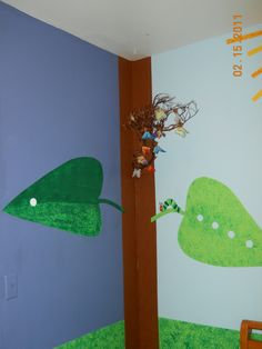 detail of The Hungry Caterpillar nursery; the butterflies light up!
