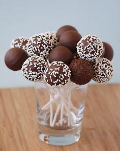 Cakepops in glass