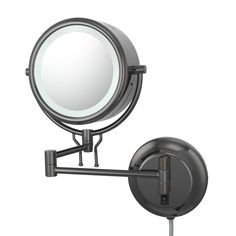 Kimball and Young 91405 Double-Sided Contemporary Wall Mirror Plug-In, 1X and 5X Magnification, Black Nickel *** More info could be found at the image url. (This is an affiliate link and I receive a commission for the sales)