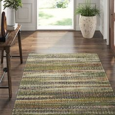 Karastan Mosaic Lambda Dark Linen Area Rug Rug Size: Rectangle x Chevron Area Rugs, Dash And Albert, Recycle Plastic Bottles, Rug Size, Animal Print Rug, Black And Brown, Hand Weaving, Mosaic, Phase 4