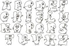 Moldes letras bonitas abecedario - Imagui