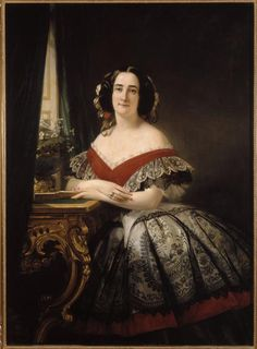 Madame Pierre-Paul Pecquet du Bellet, née Sarah Anne Elisabeth Moncure, ca. 1857 | In the Swan's Shadow