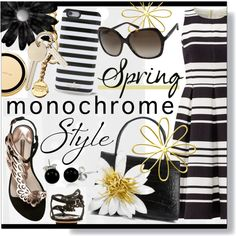 Monochrome * Black & White Outfit by calamity-jane-always on Polyvore featuring Kate Spade, Sophia Webster, Nancy Gonzalez, Moschino, Bling Jewelry, monochrome, katespade and fashionset