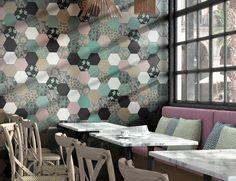 Cevica-good-vibes-1, Общественные помещения, Ванная, стиль Пэчворк, Керамика, универсальная, Матовая, моноколор, Неректифицированный