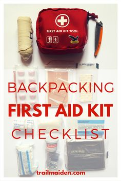 This complete checklist gives all you need to build your own essential backpacking first aid kit. Great download for your convenience!!