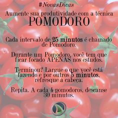 Você conhece a técnica de estudo chamada Pomodoro? Ela pode ajudar e muito na organização dos Estudos, pois toda vez que temos o desejo de fazer outra atividade, ficamos disciplinados a aguardar até o fim do pomodoro...