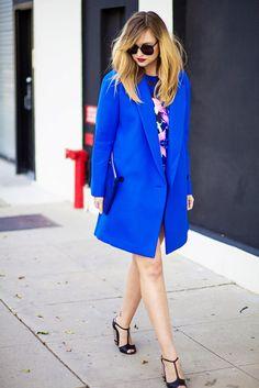 bluemarine Wearing: Dress - Cameo, coat- Tibi, shoes- Fendi, clutch- Gigi, sunglasses- Karen Walker
