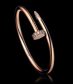 CARTIER JUSTE UN CLOU BRACELET  Pink gold, diamonds. PRICE: $11,275 (14/03/2013)