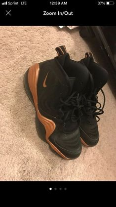 4115053df30 Nike-Air Penny Athletic Sneakers-Size 7Y. Black and Gold. Excellent  Condition  fashion  clothing  shoes  accessories  kidsclothingshoesaccs   unisexshoes ...