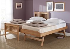 Atlantis Oak Guest Bed with Trundle from Sleep Sanctuary