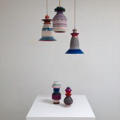 Torbjorn Vejvi turned wood lamps
