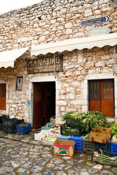 Local grocery shop/village store in Mani, Greece