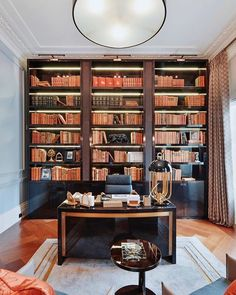 """Original Book Works on Instagram: """"We love this home library spotted on the ever excellent gallery of @beauchampestates 😍📚 . . . #homelibrary #librarygoals…"""" Book Works, Future Office, Personal Library, Bookcase, Study, Shelves, The Originals, Space, Instagram"""