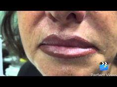 Trucco permanente labbra , correzione - YouTube