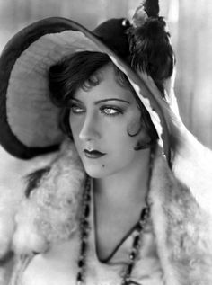 Gloria Swanson (3/27/1899 - 4/4/1983) American actress, singer and producer. She was one of the most prominent stars during the silent film era as both an actress and a fashion icon.