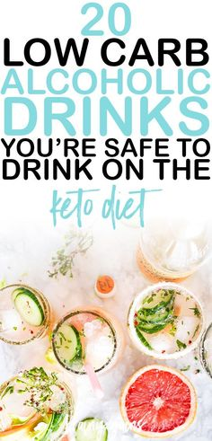 20 Refreshing Low Carb Alcoholic Drinks to Help You Unwind After a Long Day of Dieting If you've had a long day and need to unwind a little, all you need to do is sit back and relax with one (or of these easy keto cocktails. Low Carb Cocktails, Keto Smoothie Recipes, Keto Recipes, Healthy Recipes, Drink Recipes, Healthy Food, Low Carb Dinner Recipes, Keto Dinner, Pina Colada