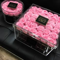 Find images and videos about pink, flowers and rose on We Heart It - the app to get lost in what you love. Beautiful Roses, Pink Flowers, Beautiful Flowers, Flower Box Gift, Flower Boxes, Billion Roses, Bouquet Box, Birthday Goals, Luxury Flowers