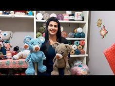Ele, que foi um dos sucessos das oficinas EuroRoma na Mega Artesanal 2018, agora pode ser seu. Confira a videoaula da querida e talentosa professora Sandra B... Amigurumi Toys, Amigurumi Patterns, Doll Patterns, Crochet Patterns, Amigurumi For Beginners, Amigurumi Tutorial, Knitting Videos, Crochet Animals, Crochet Dolls