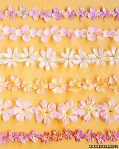 Silk-Petal Garlands - Martha Stewart Weddings Inspiration