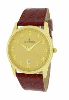 Le Chateau Men's 7076mg_g Classica Watch Le Chateau. $50.99. 3 year warranty. Second-hand. Date. Water-resistant to 99 feet (30 M). Genuine leather band. Save 70%!