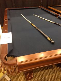 Ben Pool Table With Dark Blue Or Black Felt