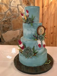 Sweet Traditions- Custom Cakes and Cookies- Sperry, Ok Native American Cake, Native American Wedding, Native American Design, Themed Wedding Cakes, Unique Wedding Cakes, Unique Weddings, American Wedding Themes, Blue Cakes, Our Wedding