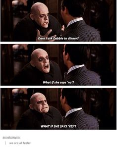 We are all uncle fester - the Addams family Funny Relatable Memes, Funny Quotes, Adams Family, The Addams Family, Fandoms, Tumblr Funny, Popular Memes, The Funny, Decir No