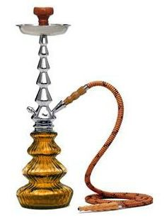 "The Mya Luna Hookah is a beautiful piece to be proud of. Try this on for size - this tall hookah stands high at 22"" and it comes in 8 flashy colors so you can pick which one fits your style. This Luna hookah smokes great and also works as a nice table center piece to show off to all of your friends. The Mya Luna comes with an aluminum stem and a hand-blown classic MYA glass base."