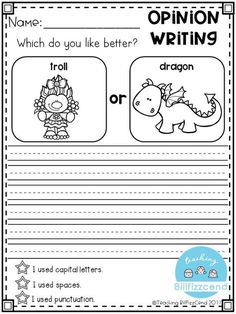 kindergarten writing prompts pdf