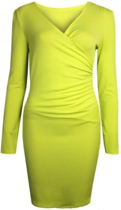 Jlo lime neon stretch bodycon dress!