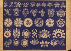 THIS comes from a book about motifs in Hungarian embroidery