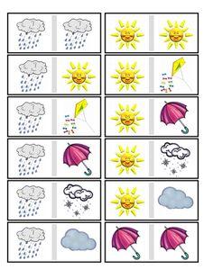 Погода для детей: картинки и задания