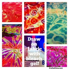 Using her bleach pen idea she also has an idea to do bleached designes on tie dye!!:) so cool!