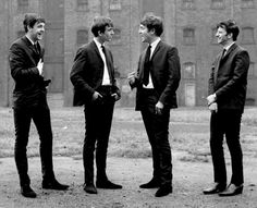 The Beatles in Liverpool, September 19, 1962. Ringo was new to the group, having just joined in August, 1962.